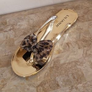 Leopard Gold Sandals